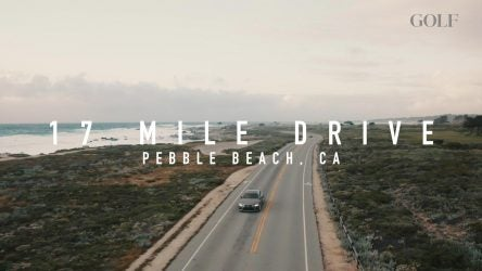 Picture of Lexus vehicle on 17 Mile Drive in California.