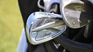 Patrick Cantlay's Titleist 718 AP2 irons and Vokey SM6 sand wedge.