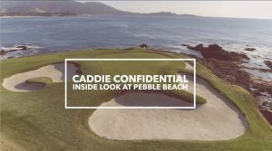 caddie golf course pebble