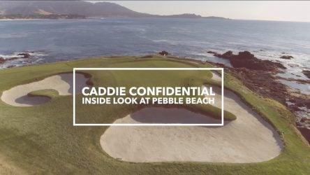 caddie golf course pebble