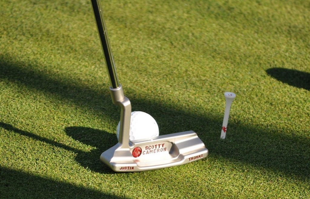 One of Justin Thomas' old Scotty Cameron Newport 2 GSS putters.