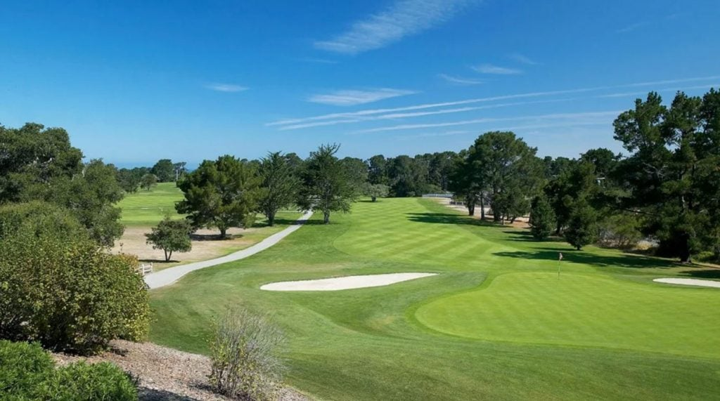 The beautiful par-4 7th at Del Monte Golf Course.