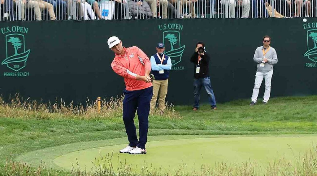 Woodland's deft chip off the putting surface on 17 all but sealed his win at the 2019 U.S. Open.