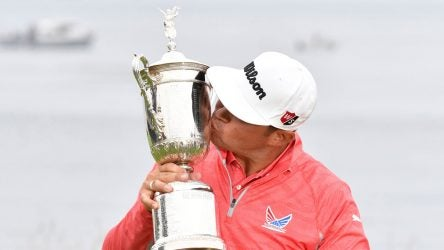 Gary Woodland US Open trophy