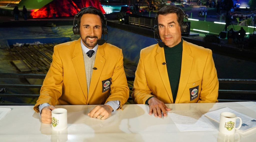 Joe Tessitore and Rob Riggle are unimpressive in the broadcast booth on the show.