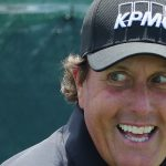 Phil Mickelson smiles