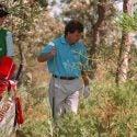golfer in hazard