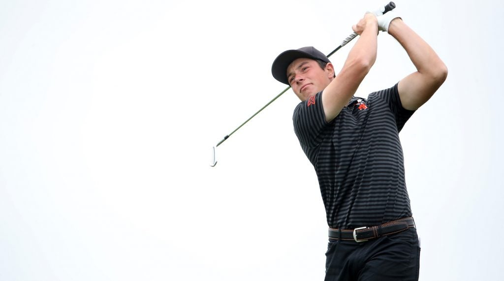 Viktor Hovland and Ping agreed to terms on an 11-club equipment deal.