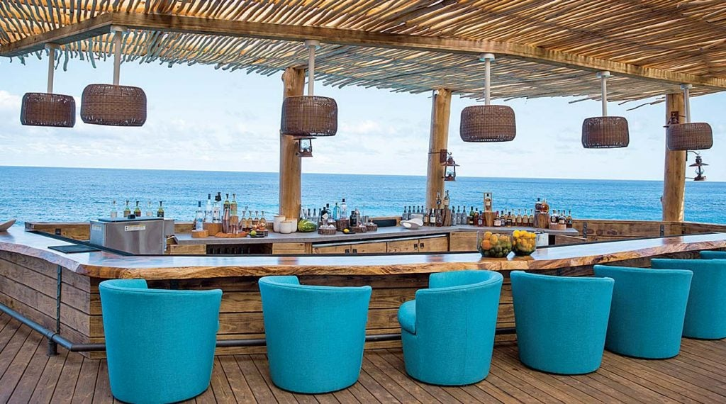 """Discovery Land's Comfort Stations dazzle at every turn, including at """"The Point,"""" a seaside watering hole located at Playa Grande in the Dominican Republic."""
