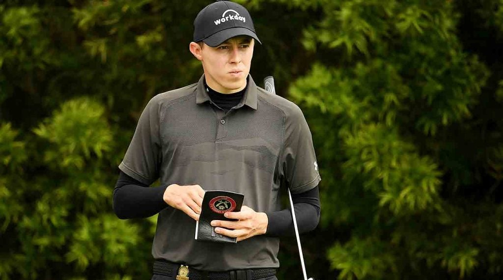 Matthew Fitzpatrick finished 4 under at the U.S. Open at Pebble Beach.