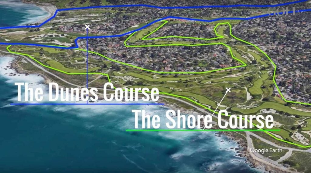 Monterey Peninsula boasts two 18-hole courses that border each other.