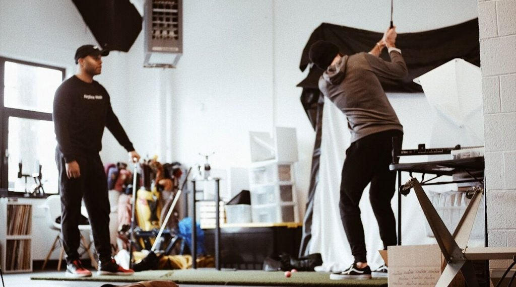 In addition to being a retail and creative space, Portland Golf Collective also encourages customers and drop-ins to hit some balls.