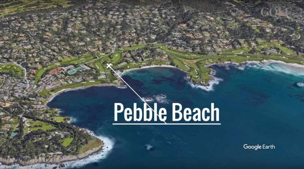 Pebble Beach Golf Links looks pretty good from this — and every — angle.