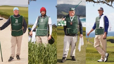 The caddies of Pebble Beach.