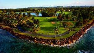 Aerial shot of TPC Dorado Beach Golf Resort