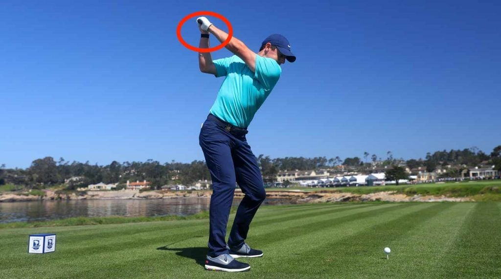 Rory McIlroy wore a WHOOP on his wrist at the U.S. Open.
