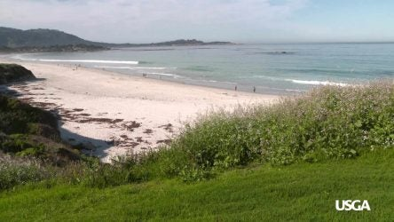 Picture of the beach at Pebble Beach.