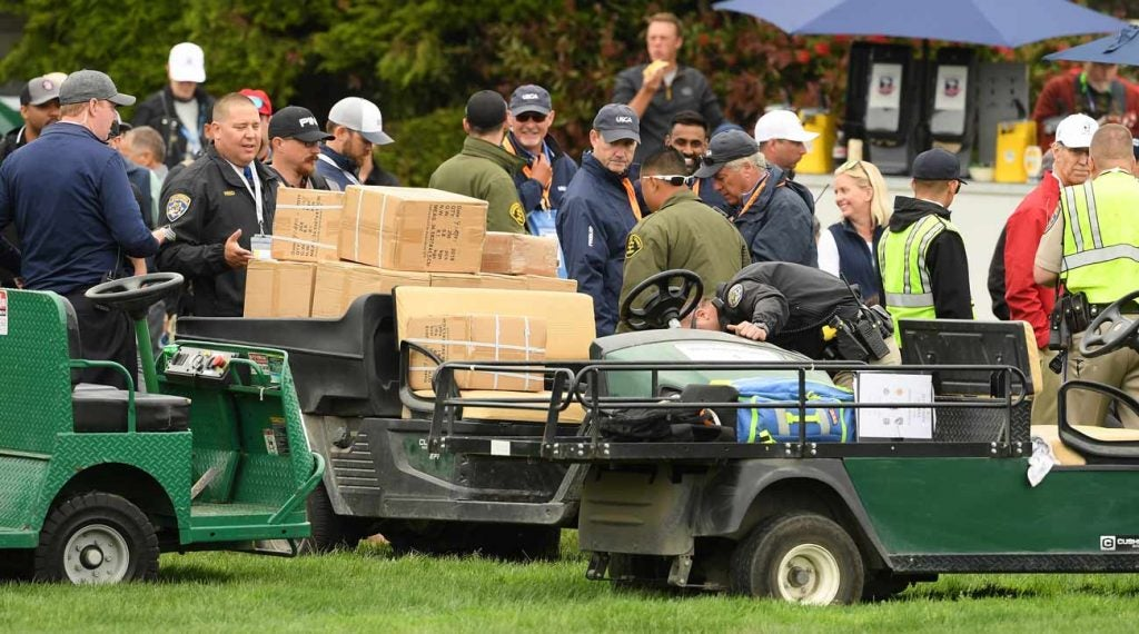 The California Highway Patrol was on the scene shortly after the golf cart incident on Friday.