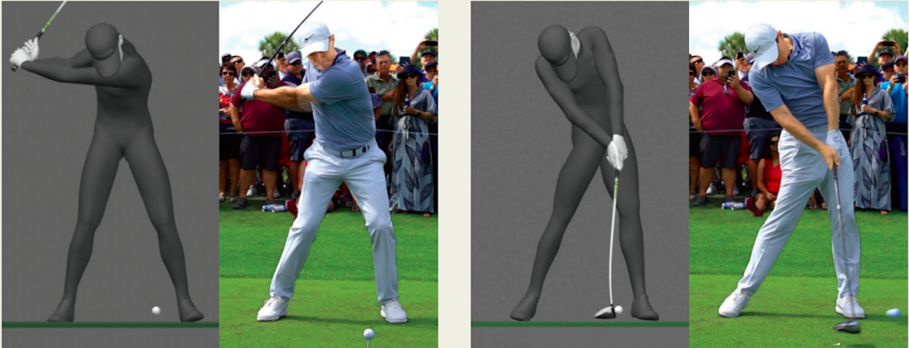 Side-by-side technology reveals McIlroy's key to power in his drives.
