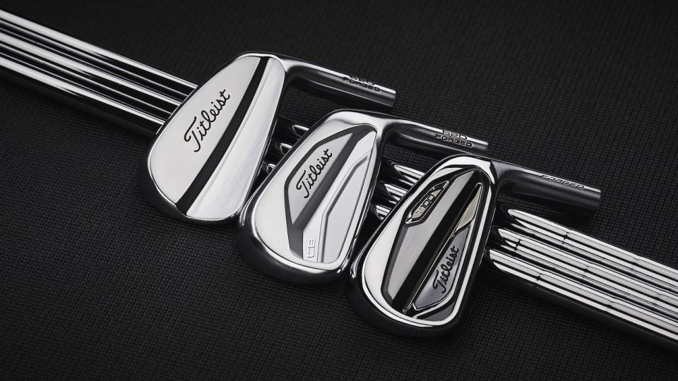 Titleist's 620 MB, CB and T100 irons.