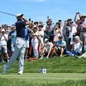 Tiger Woods tees off during a U.S. Open practice round at Pebble Beach.