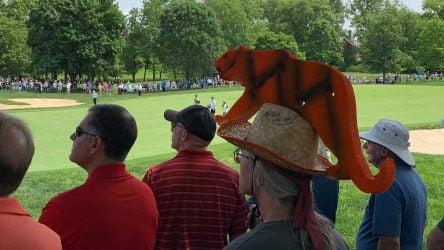 tiger woods hat guy fans