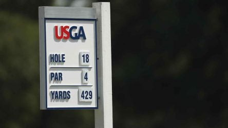 USGA hole sign