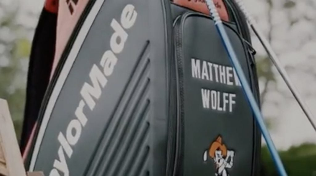 Matthew Wolff's TaylorMade staff bag.