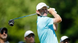 Brandt Snedeker watches a tee shot during the second round of the RBC Canadian Open.