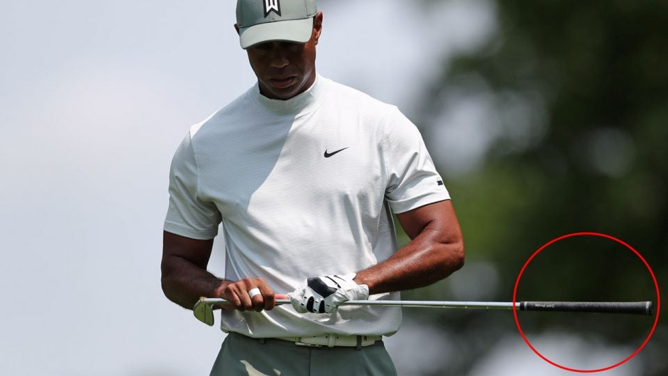 Cord golf grips: Tiger Woods uses them