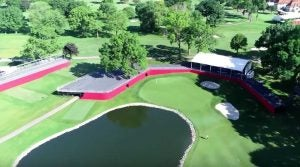 A flyover view of a portion of Area 313 at Detroit Golf Club.