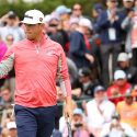 Gary Woodland waves to the gallery during the final round of the U.S. Open on Sunday at Pebble Beach.