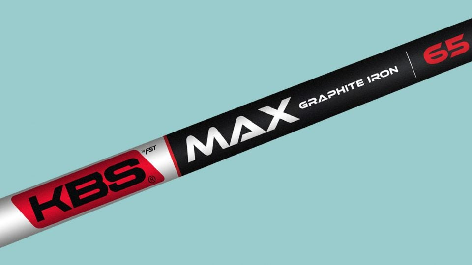 Graphite irons shafts: KBS MAX
