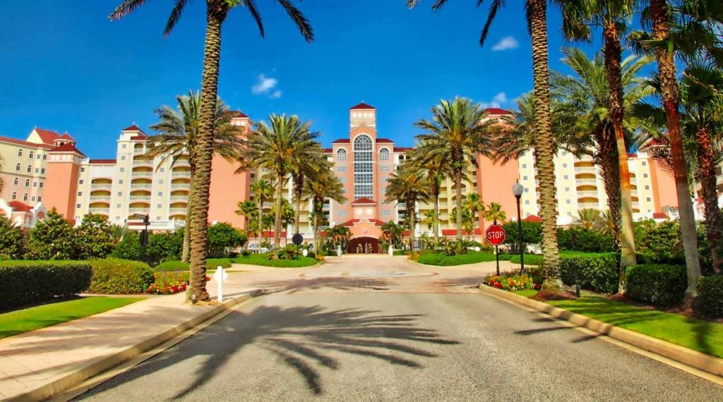 The entrance to Hammock Beach Resort is hard to miss.