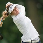 Hannah Green hits a shot during the final round of the KPMG Women's PGA Championship on Sunday.