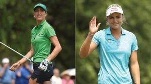 Jaye Marie Green (left) and Lexi Thompson are both in the mix at the U.S. Women's Open.