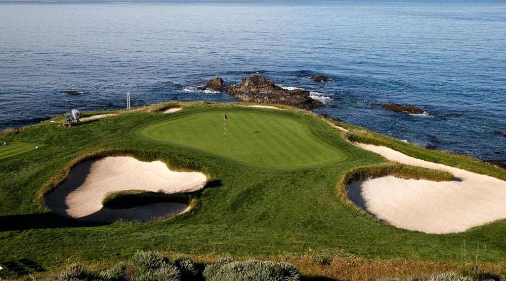 Few holes are as picture- perfect as the par-3 7th at Pebble Beach.
