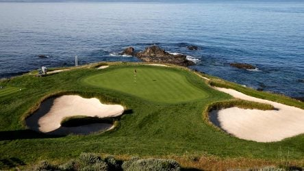 Few holes are as picture perfect as the par-3 7th at Pebble Beach.