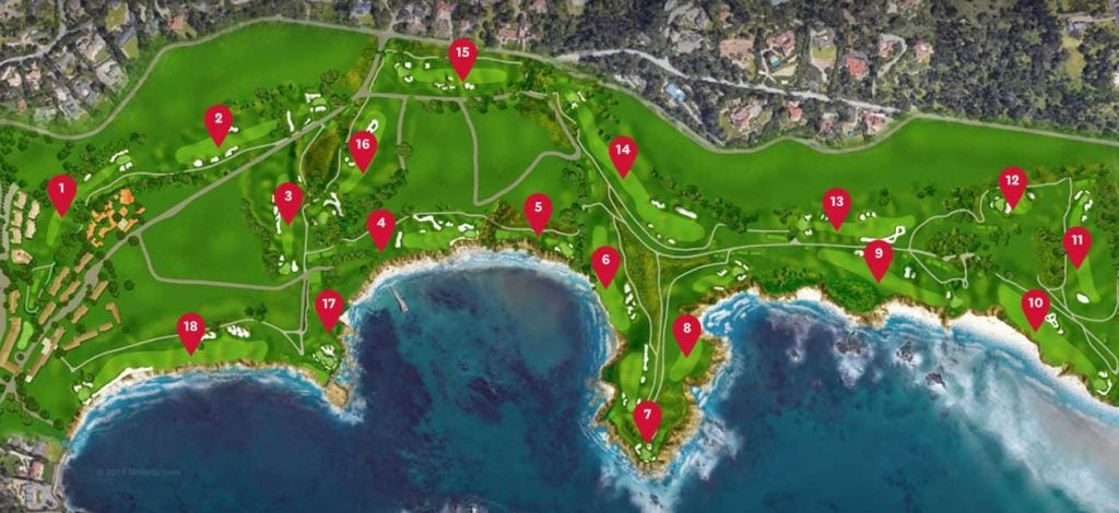Pebble Beach Layout Check Out The Pebble Beach Course Map
