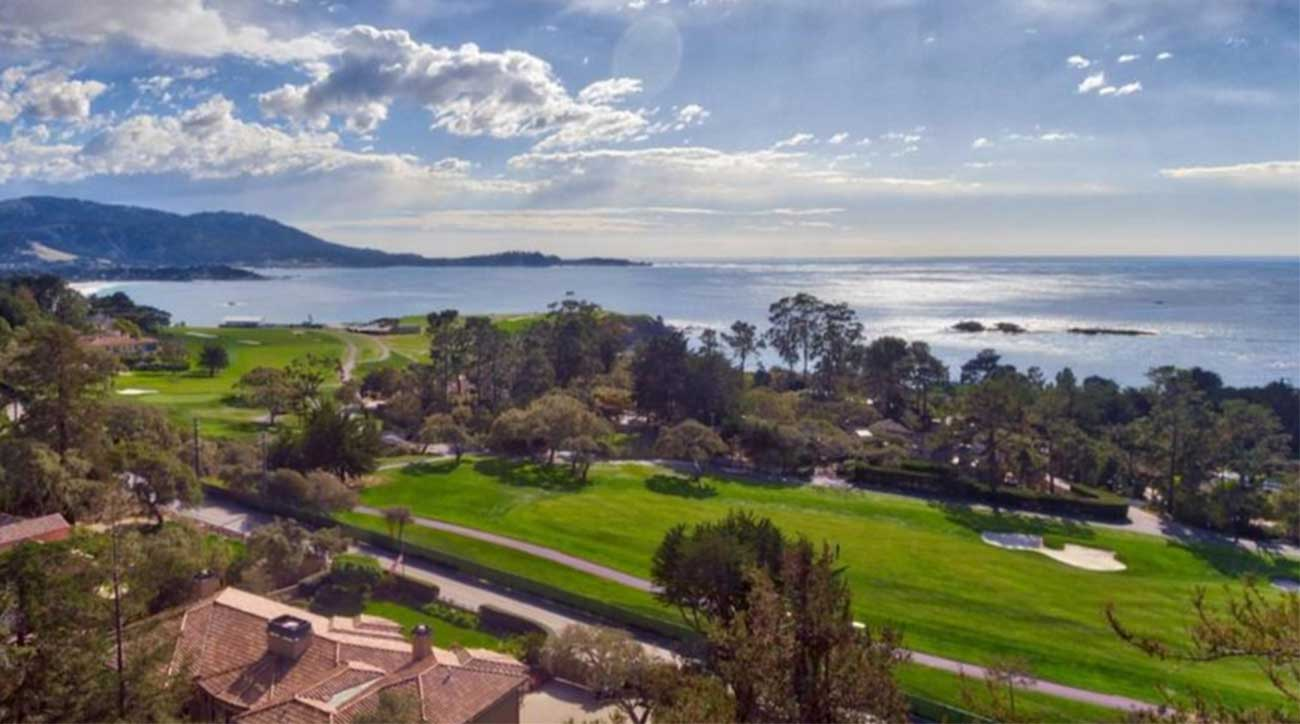 A look at one of the mansions at Pebble Beach Golf Links.