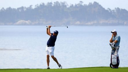 Phil Mickelson practices at U.S. Open