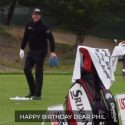 Phil Mickelson birthday: Fans sing at Pebble Beach