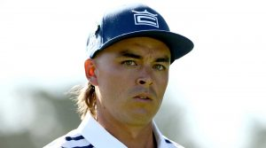 Rickie Fowler looks on at the 2019 U.S. Open.