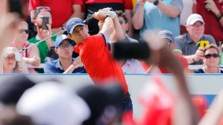 Rory McIlroy hits a drive at the RBC Canadian Open.