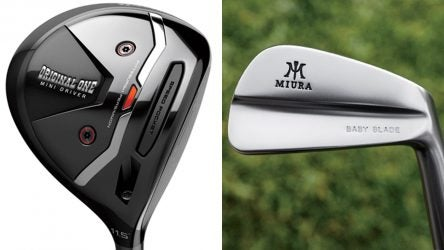 Small golf gear: TaylorMade Original One Mini driver, Miura Baby Blades