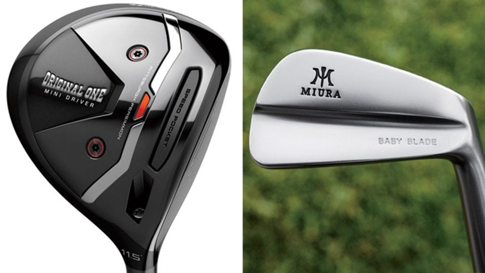 Small golf gear: TaylorMade Original One Mini driver, Miura Baby Blades
