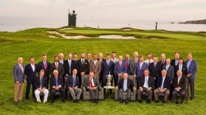 U.S. Open Champions Dinner group photo