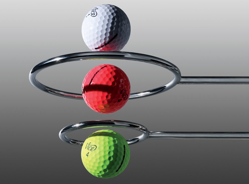 Vice's golf ball line for 2019.