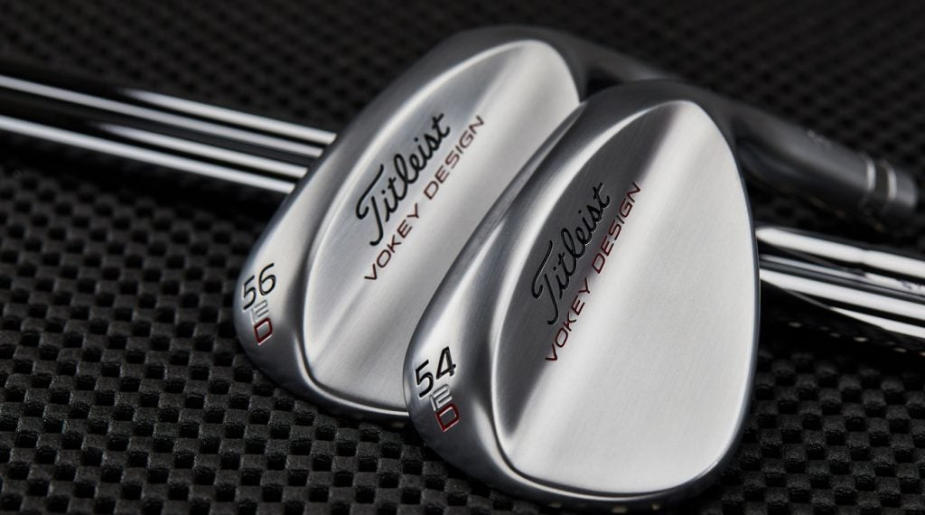 The new Titleist Vokey 54.12 D and 56.12 D wedge models.