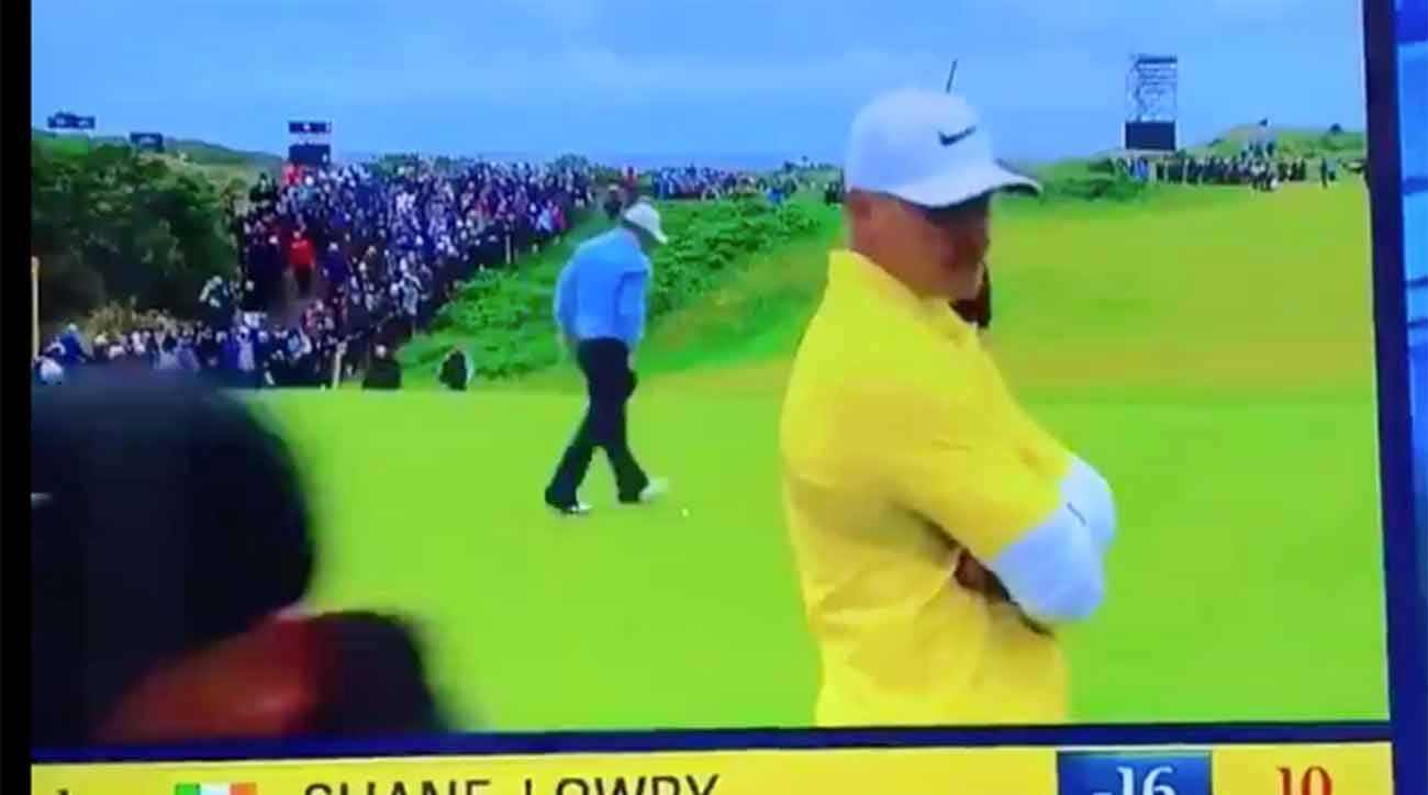 brooks koepka appears to be irritated by playing with